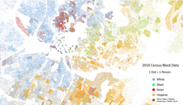 Austin-Round Rock Metropolitan area – segregation by race