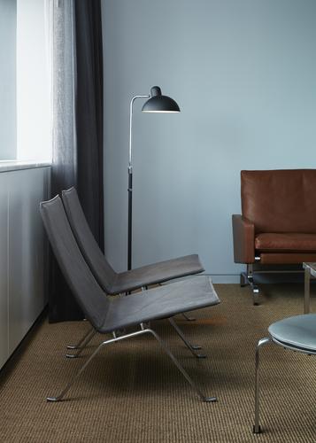 PK22 Easy Chair and Kaiser Idell Floor Lamp