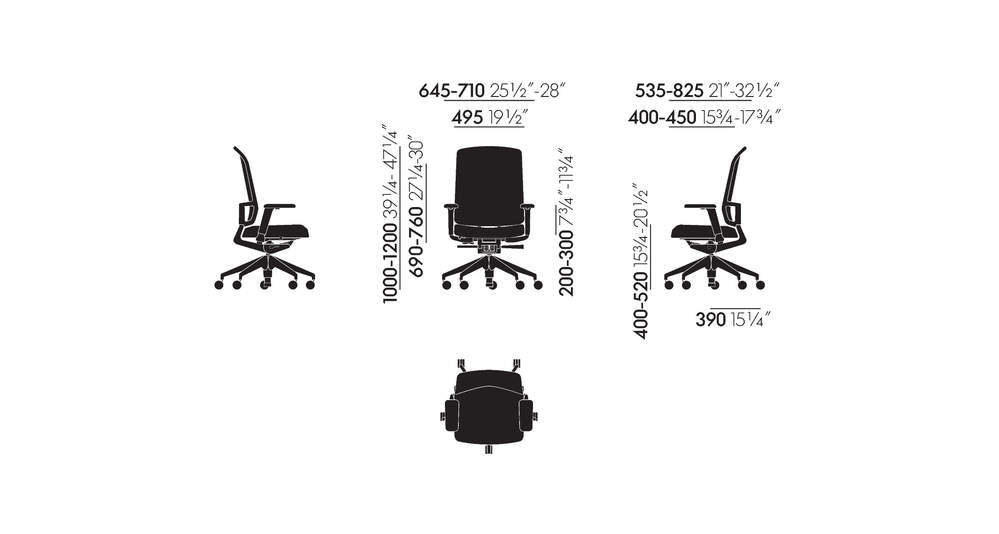AM Chair with 3D armrests