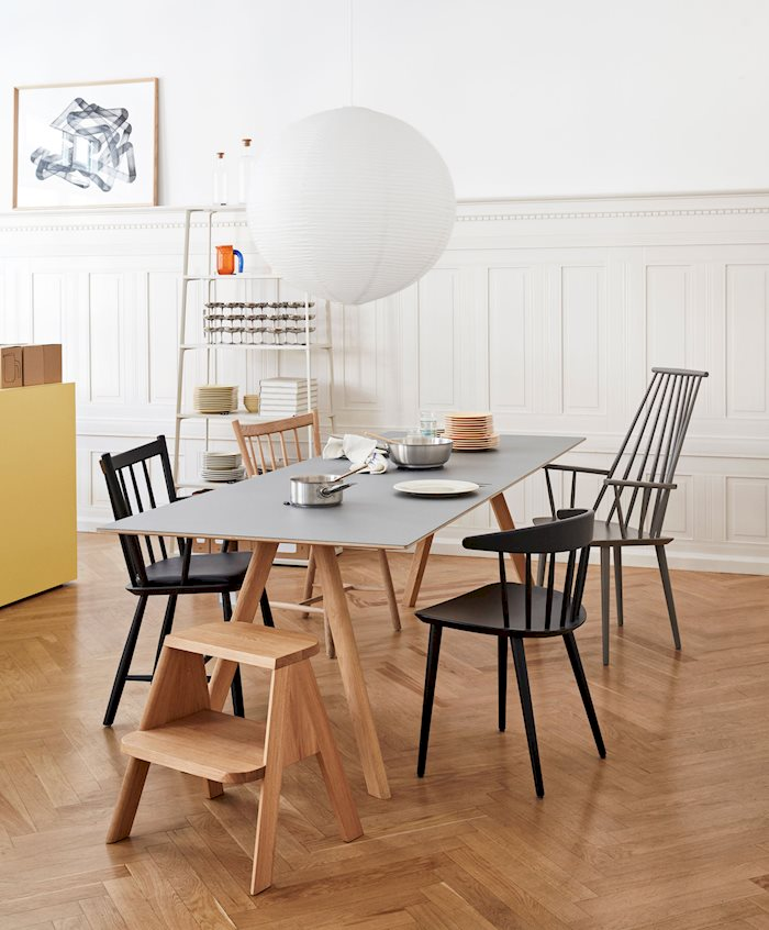 Designed to recreate the classic FDB furniture collection, the J-Series offers a functional design born out of industrial development. The chairs add a timeless element to any setting.  J104 Chair / J110 Chair / J41 Chair CPH30 Table