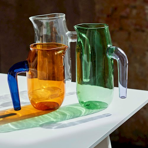 Expert glass artist Jochen Holz has created this glass Jug for HAY. The simple, organic design has a strong yet graceful expression.