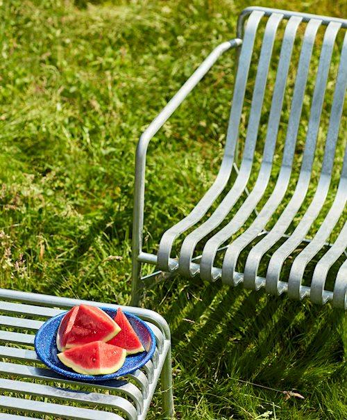 Palissade Lounge Chair Hot Galvanised /Enamel Deep Plate dust blue