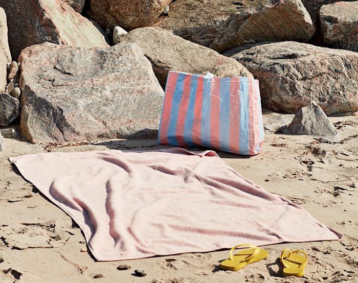 Frotté Bath Towel rose / Candy Stripe Shopper