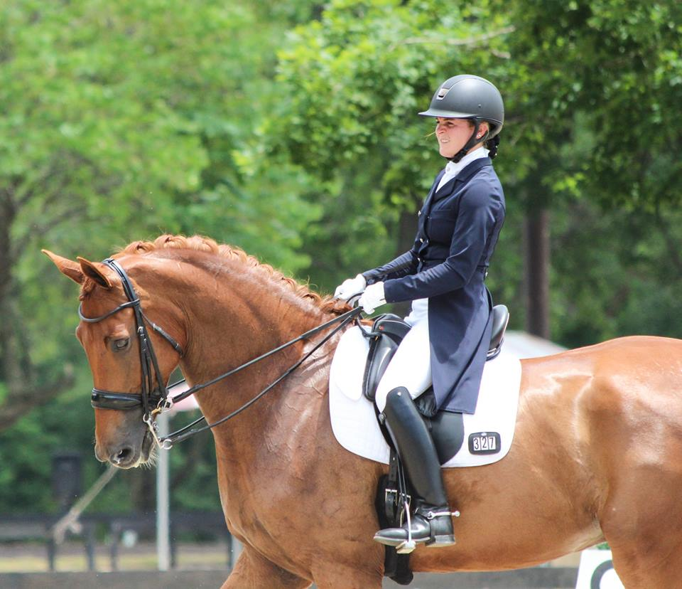 Kerri Coufal and Bon Ami broke out at Prix St. Georges and Intermediare! This elegant pair won the Virginia Regional Championship at PSG while testing prototypes of our Flapless Saddle System in 2017.