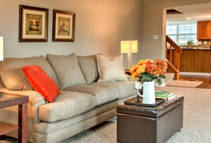 Akron Flipped Home Living Room Design