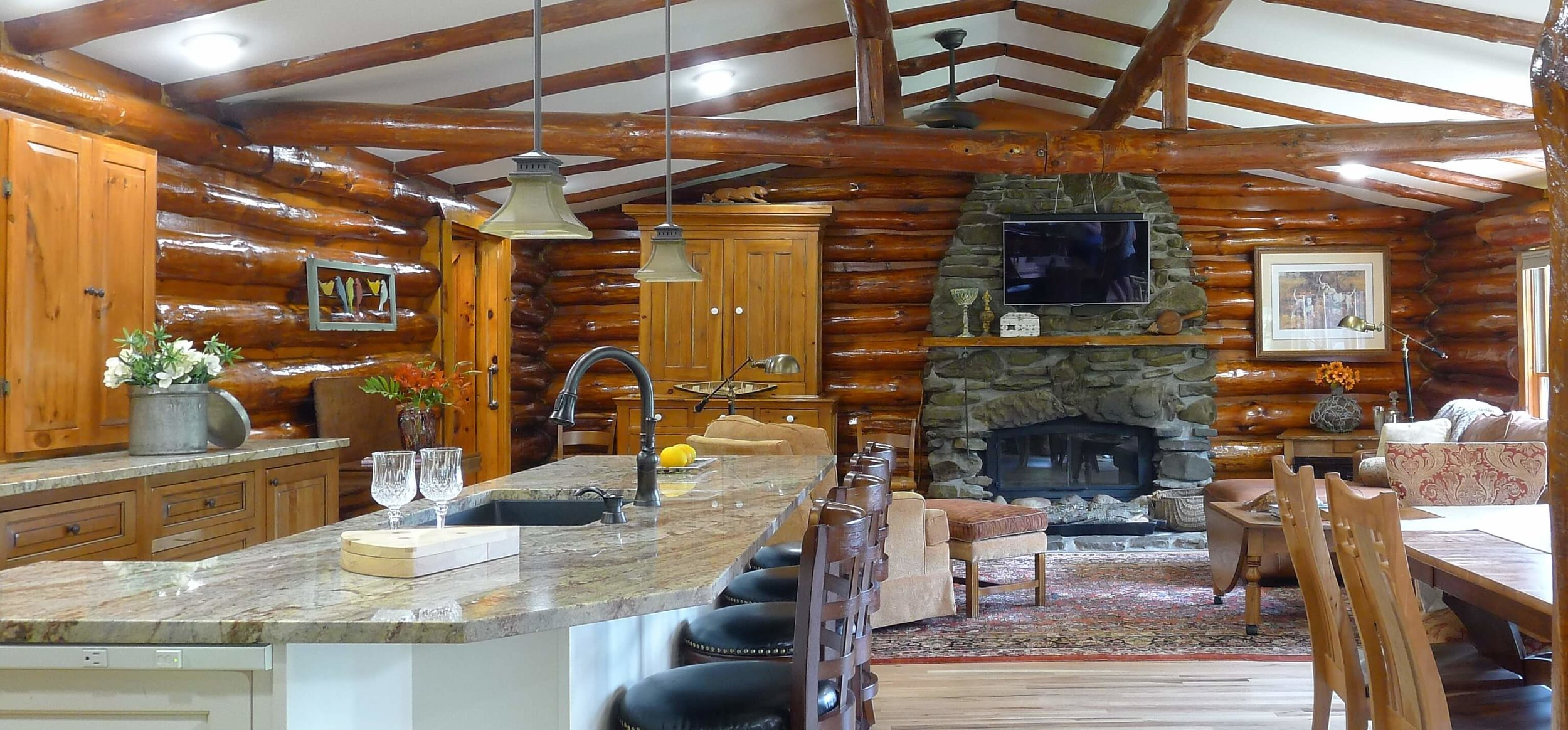 Buffalo Log Home Great Room Design