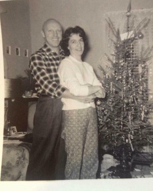 My Mom and dad, 1957