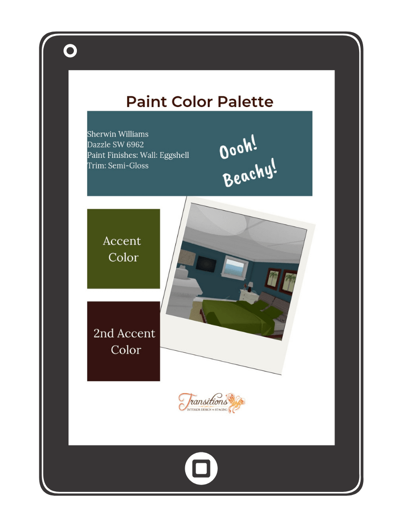 paint palette for beach house