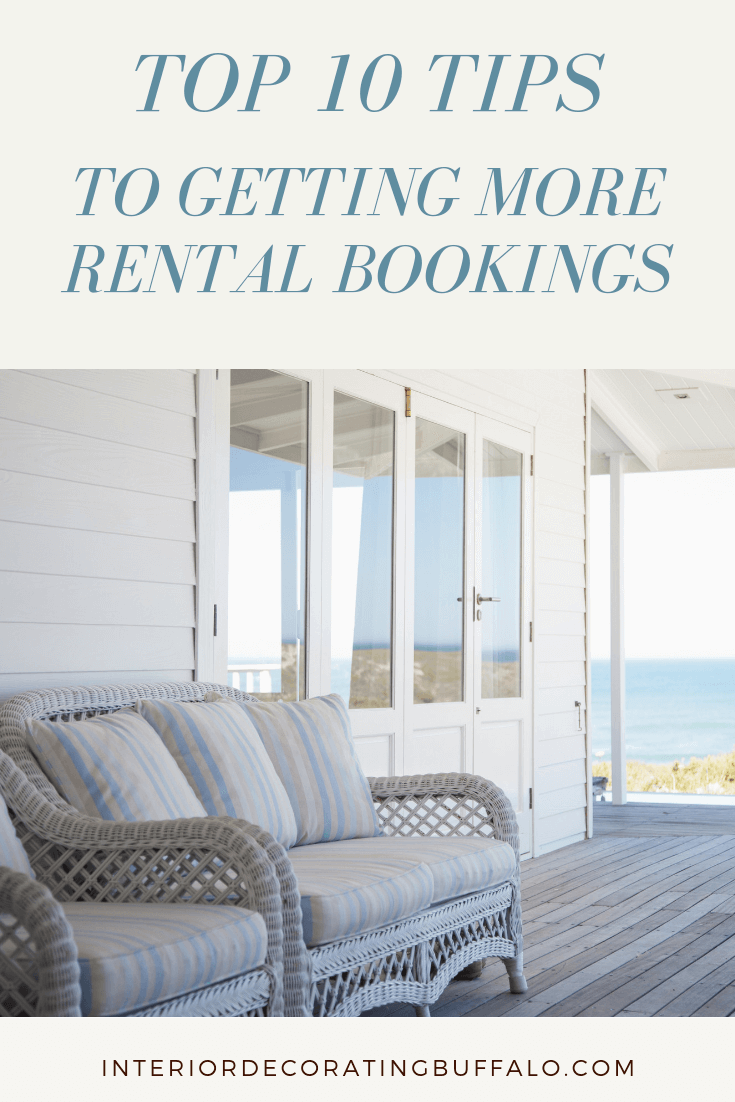 How to decorate your vacation rental, airbnb, VRBO to get more rentals and bookings.
