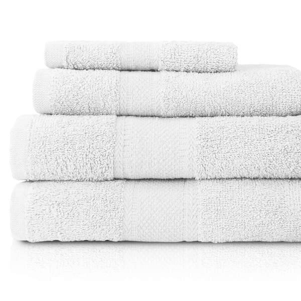 When hopping out of a shower, there's nothing like a fluffy white towel to start your day to make you feel pampered.    When I was staging properties, I always used white towels to evoke the feeling of cleanliness and spa-like bathrooms.  I didn't care much how durable they were.  No one was going to be using them.  I usually picked mine up at Target, but they don't carry the Fieldcrest brand that I like anymore.  But they were inexpensive, and suited my purpose.    But for your own home, for your guest bathroom, and even for your short-term rental properties, you want towels that pamper you (or your guests) like those in your favorite  5-star hotel.