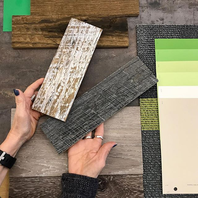 Incorporating reclaimed barnwood in this nature inspired color palette. #sienausa #interiordesign #barnwood