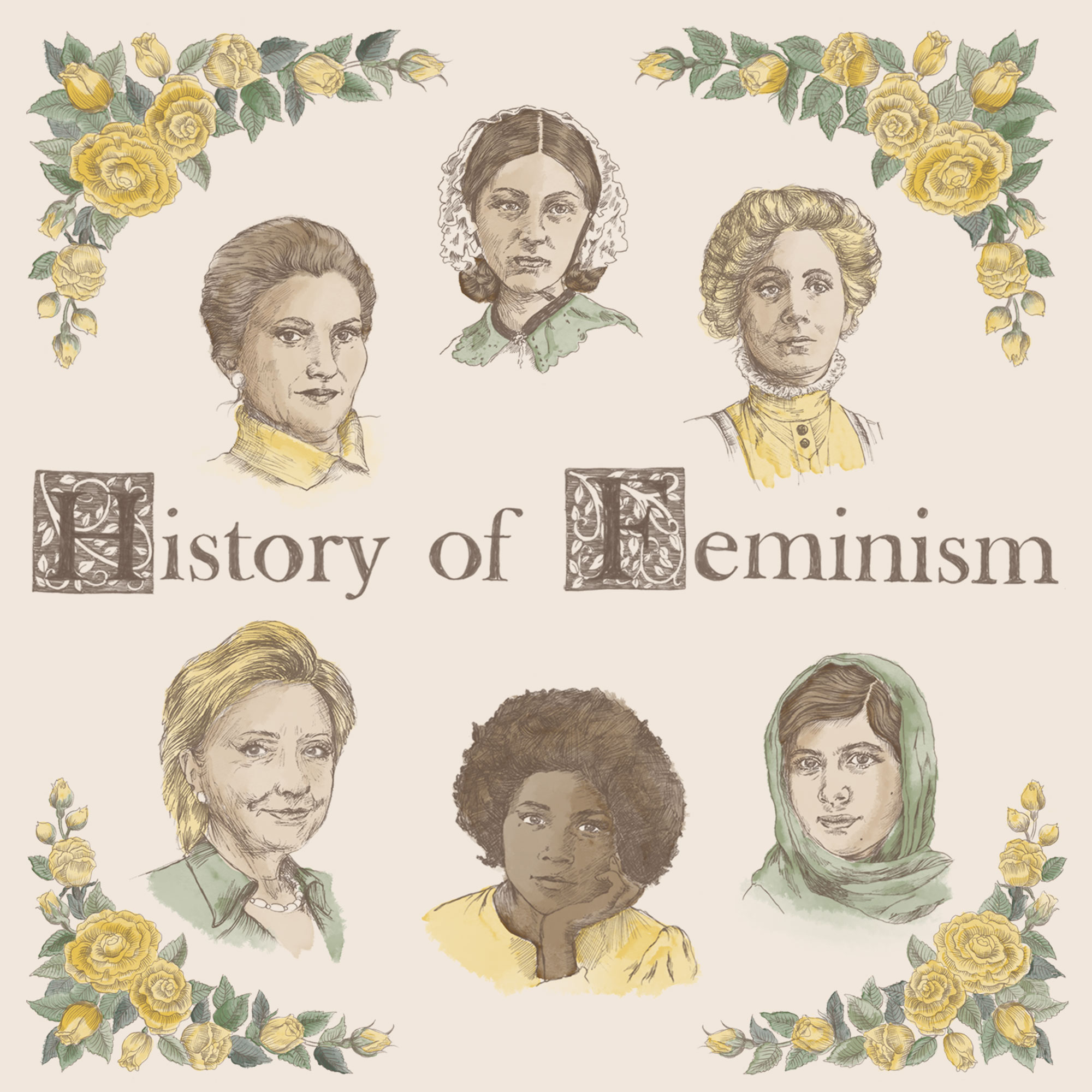 history of feminism poster