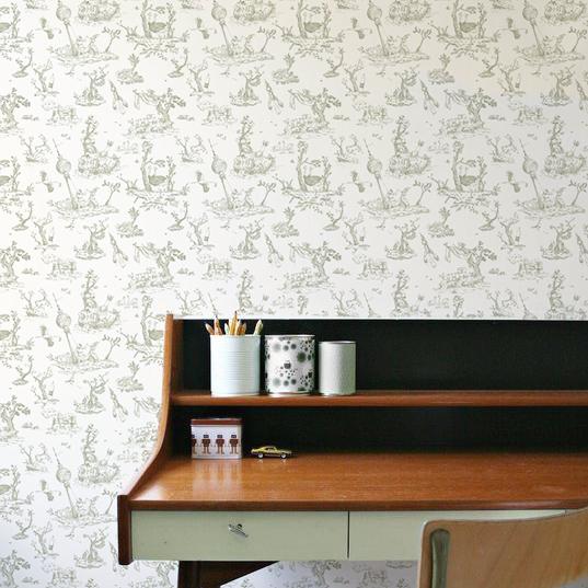 toile de Jouy, wallpaper