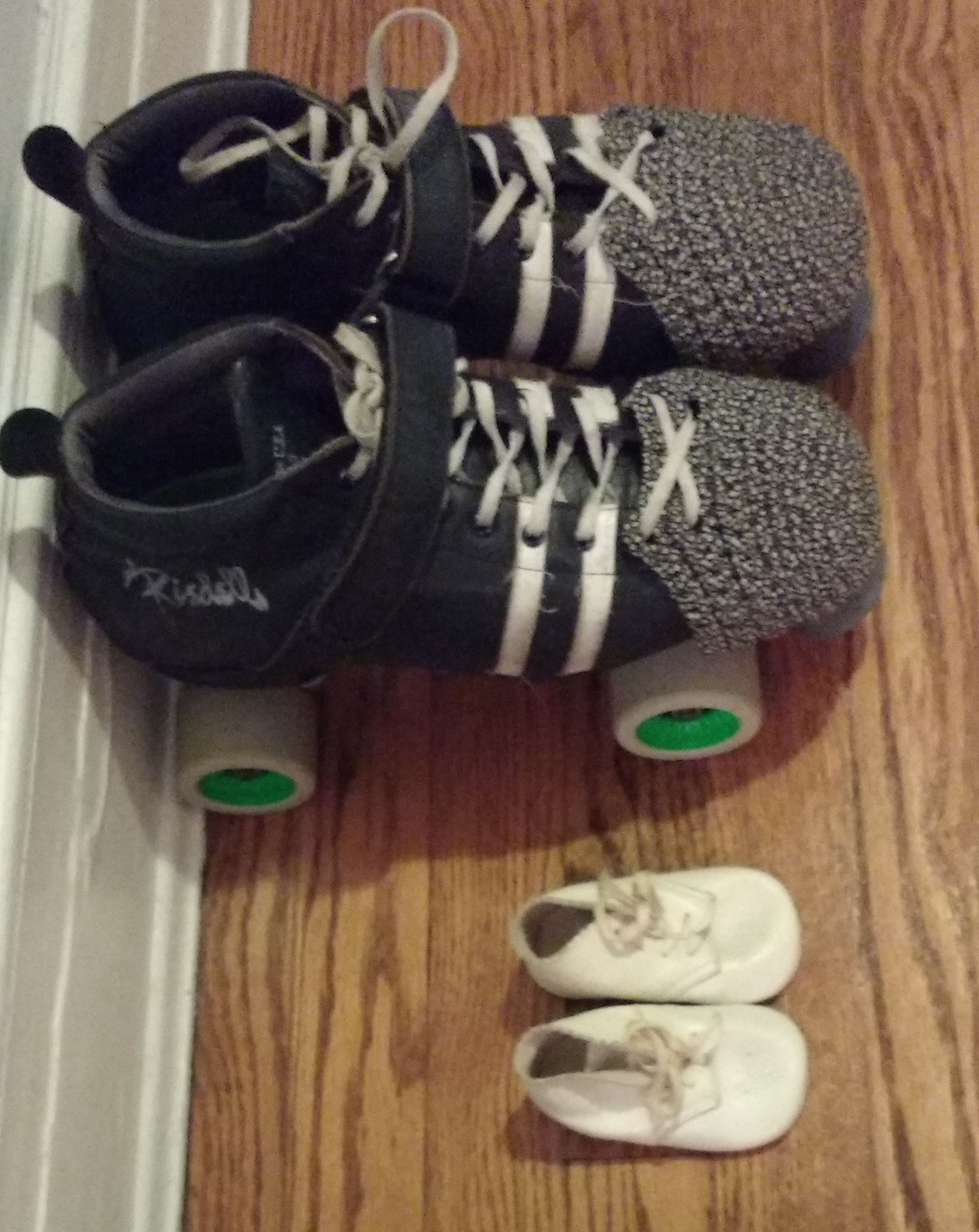 skates and baby shoes
