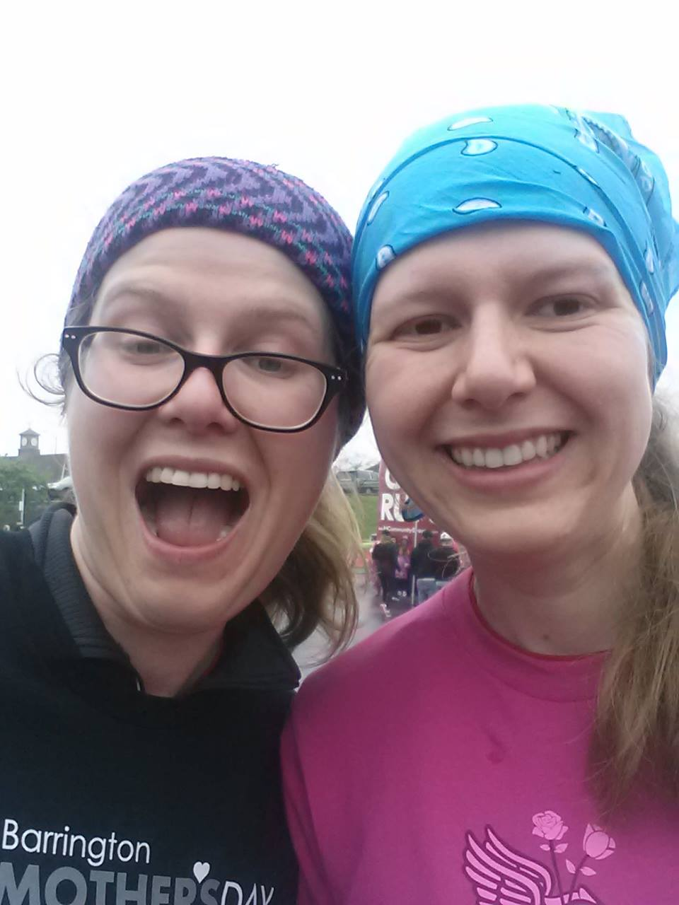 Me and my sister after a race. Sorry sis, it's a much better picture of me than you. You can use bad pictures of me for your blog. Oh wait. You don't have one. Photo credit: Susan B. Slamthony