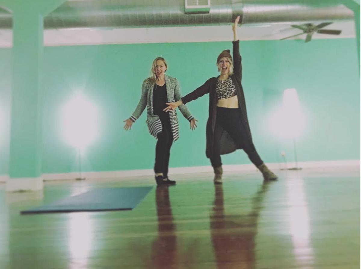 Kelly & I in her studio,  Peace, Love, & Wellness  , in Warren,Pennsylvania.