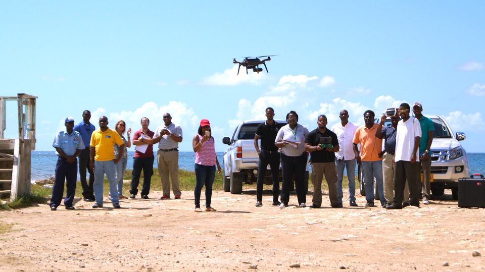 Kim Baldwin conducted drone mapping training courses, UAS policy and operations manual and data management protocol for the Department of Environment in Antigua, Caribbean.