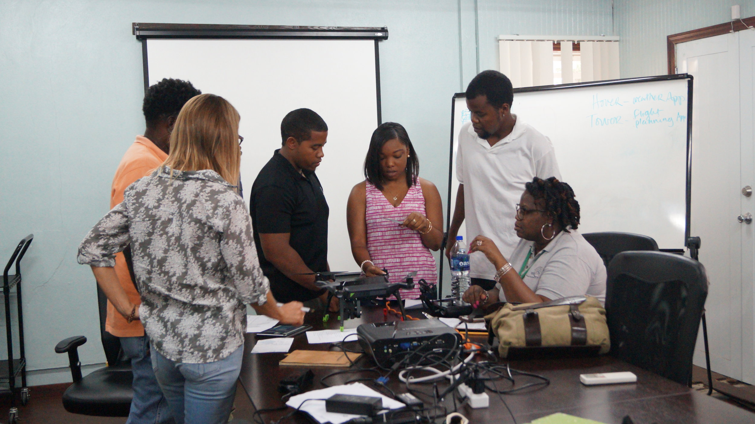 Aerial mapping and drone flying training course & UAS Policy, Operations Manual and Data Management Protocol was conducted for the Department of Environment in Antigua.