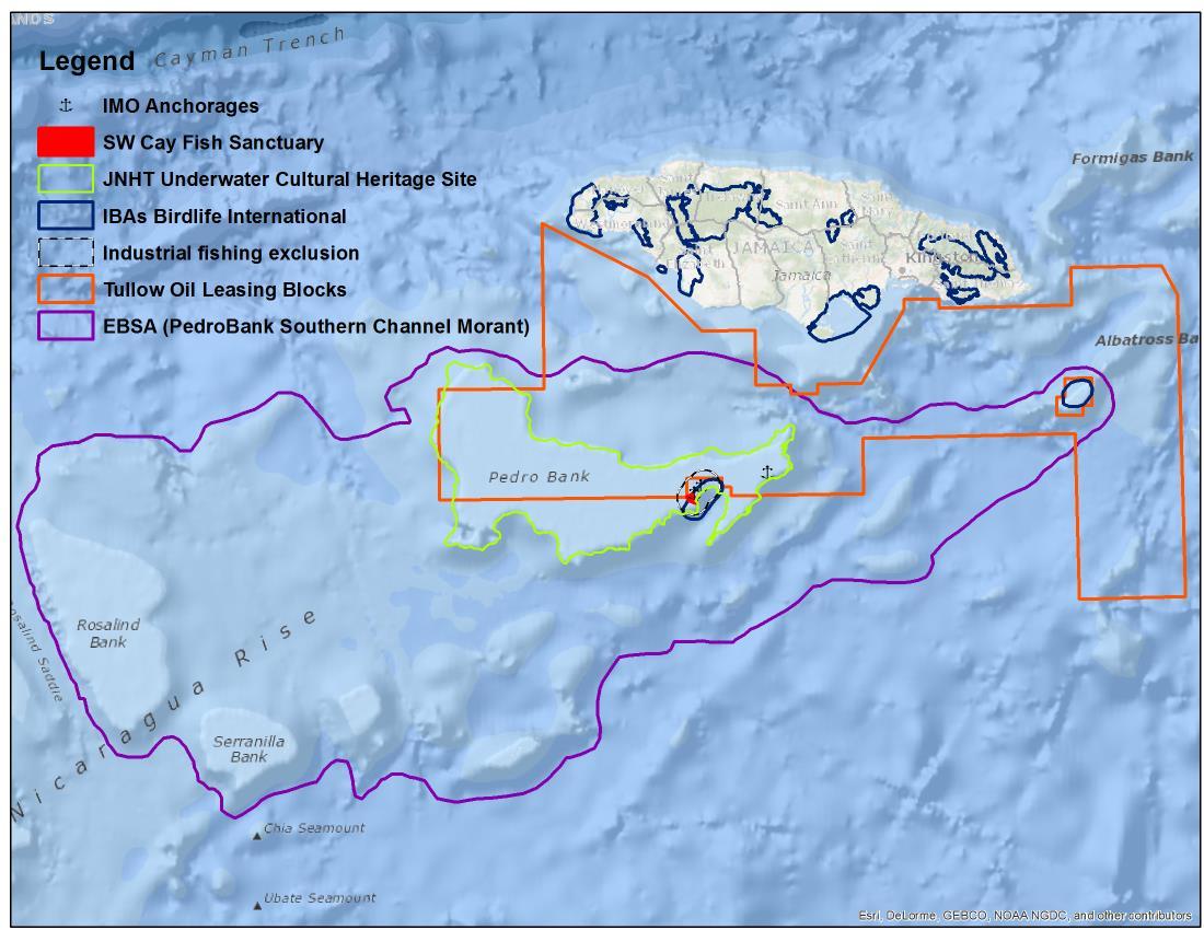 Existing Marine Management Areas of Jamaica