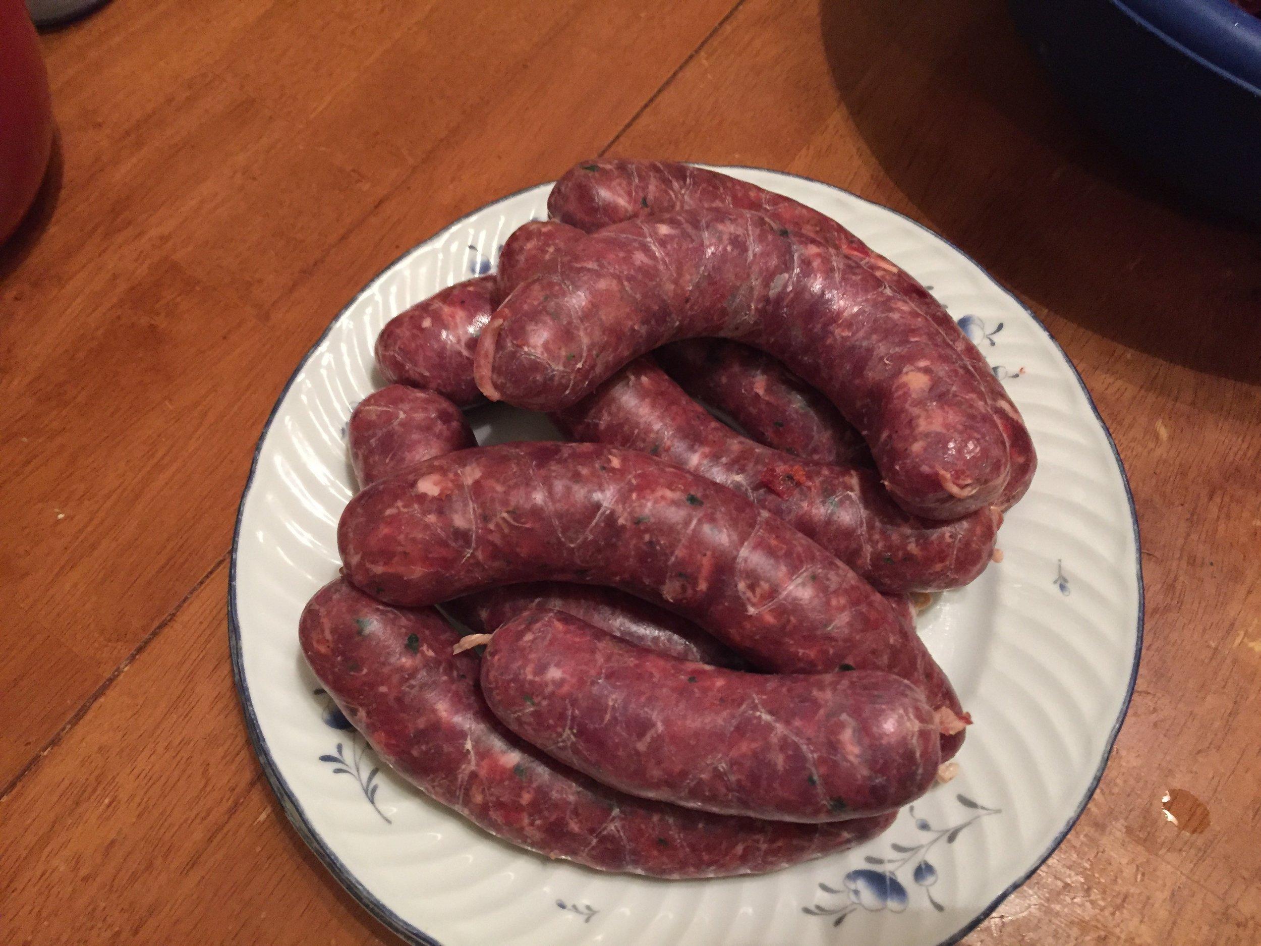 Freshly made Jackrabbit breakfast sausages