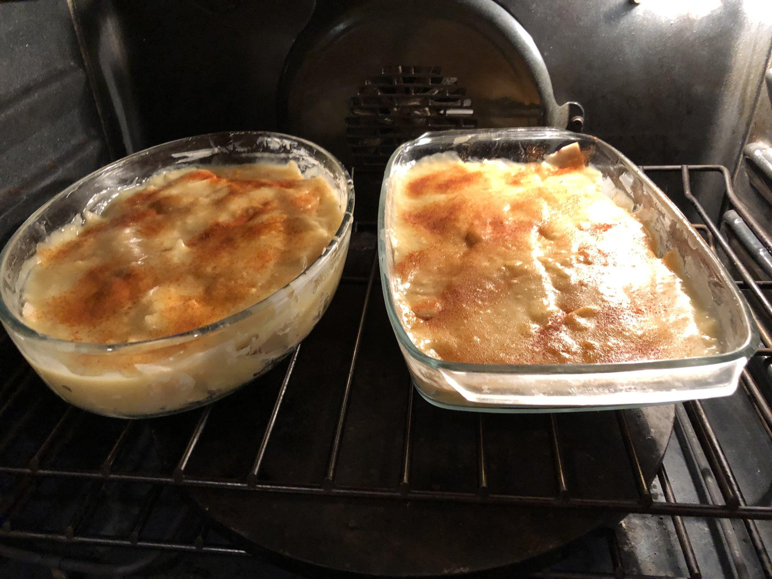 Ready to bake scalloped potatoes
