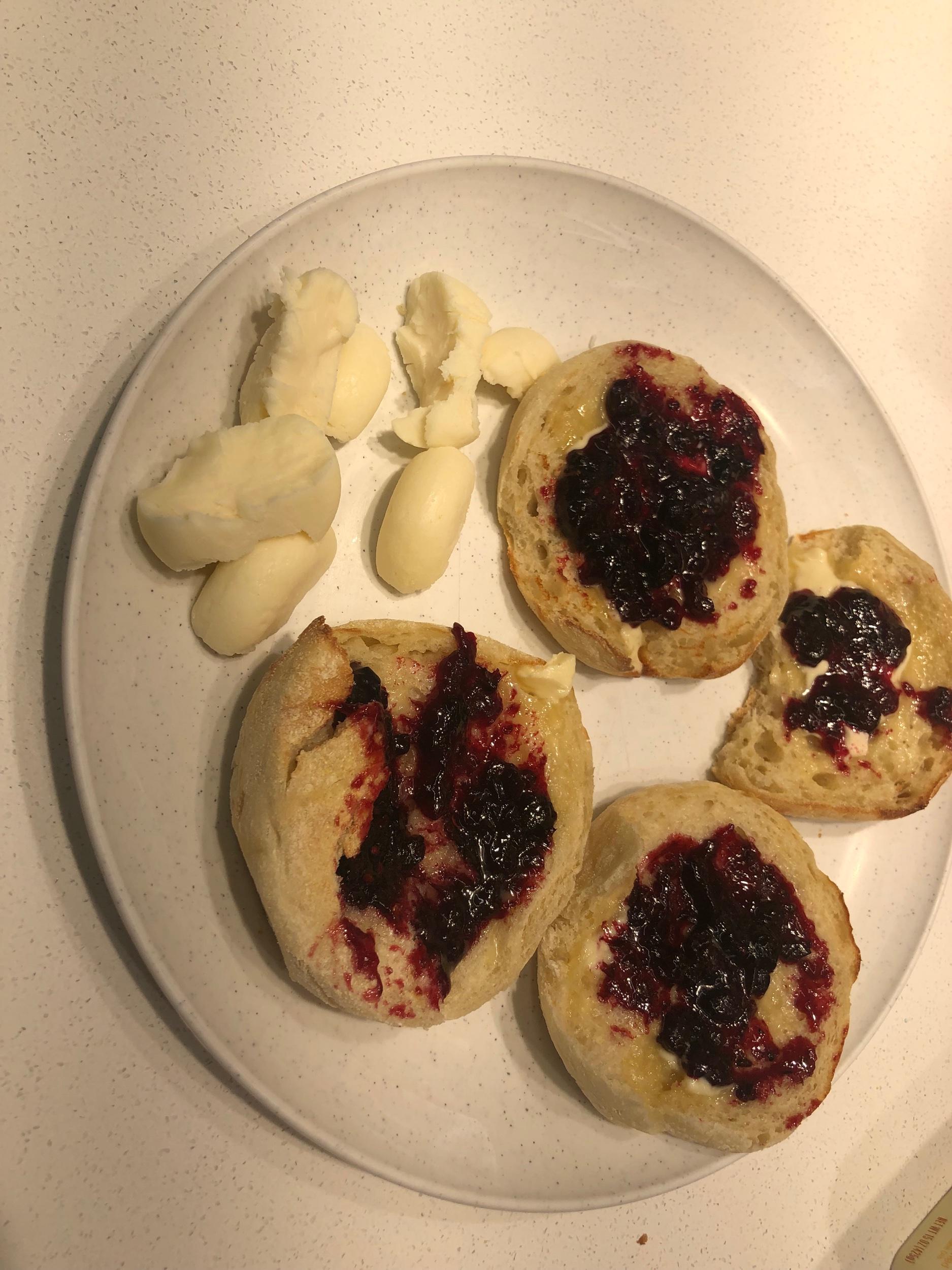 - English toast with Oregon Grape jam