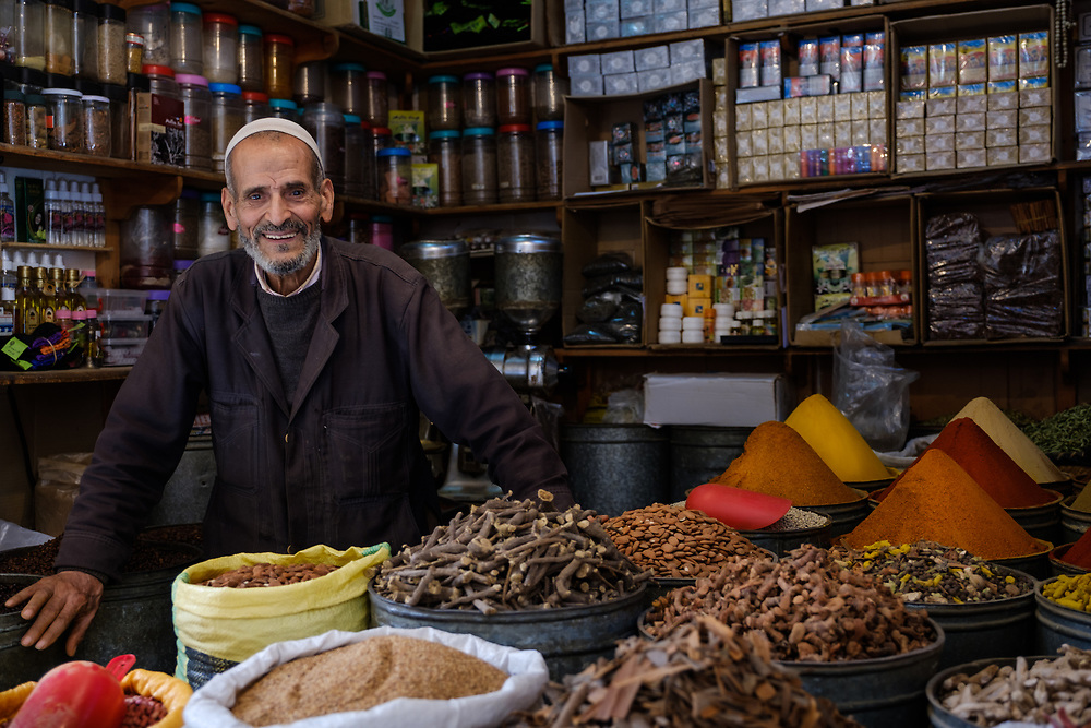 A spice merchant in the Medina of Fez