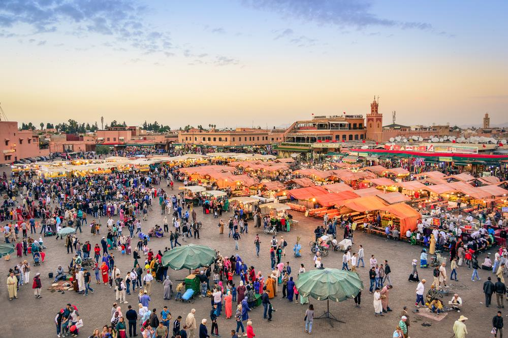 Jemaa El-Fna Square aka one of the best food courts in the world!
