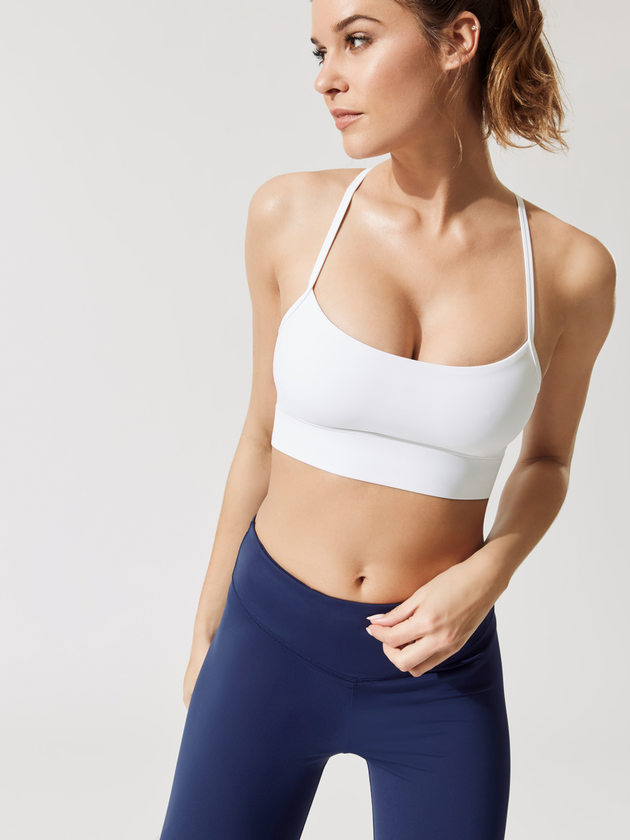Varley   Feliz Bra , $   VARLEY Feliz White Bra - Everything Varley makes is super soft and I love their fashion forward styles! Lots of beautiful attention to detail.    Click here to BUY!