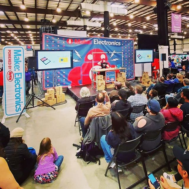 A big thank you to everyone who attended my #makerfaire talk Getting Started with Sewable Electronics or stopped by to visit me and @a.data.date at our project booth to talk #WearableTech #fashiontech #arduino #diy and #opensourcehardware. I had so much fun at #mfba19!