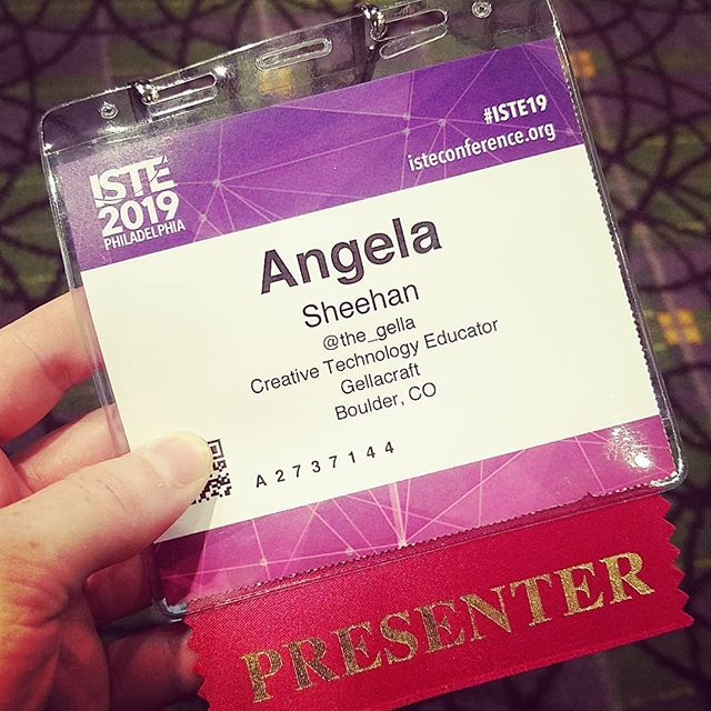 ISTE day 1 - getting ready to teach my Hacks & Crafts workshop!