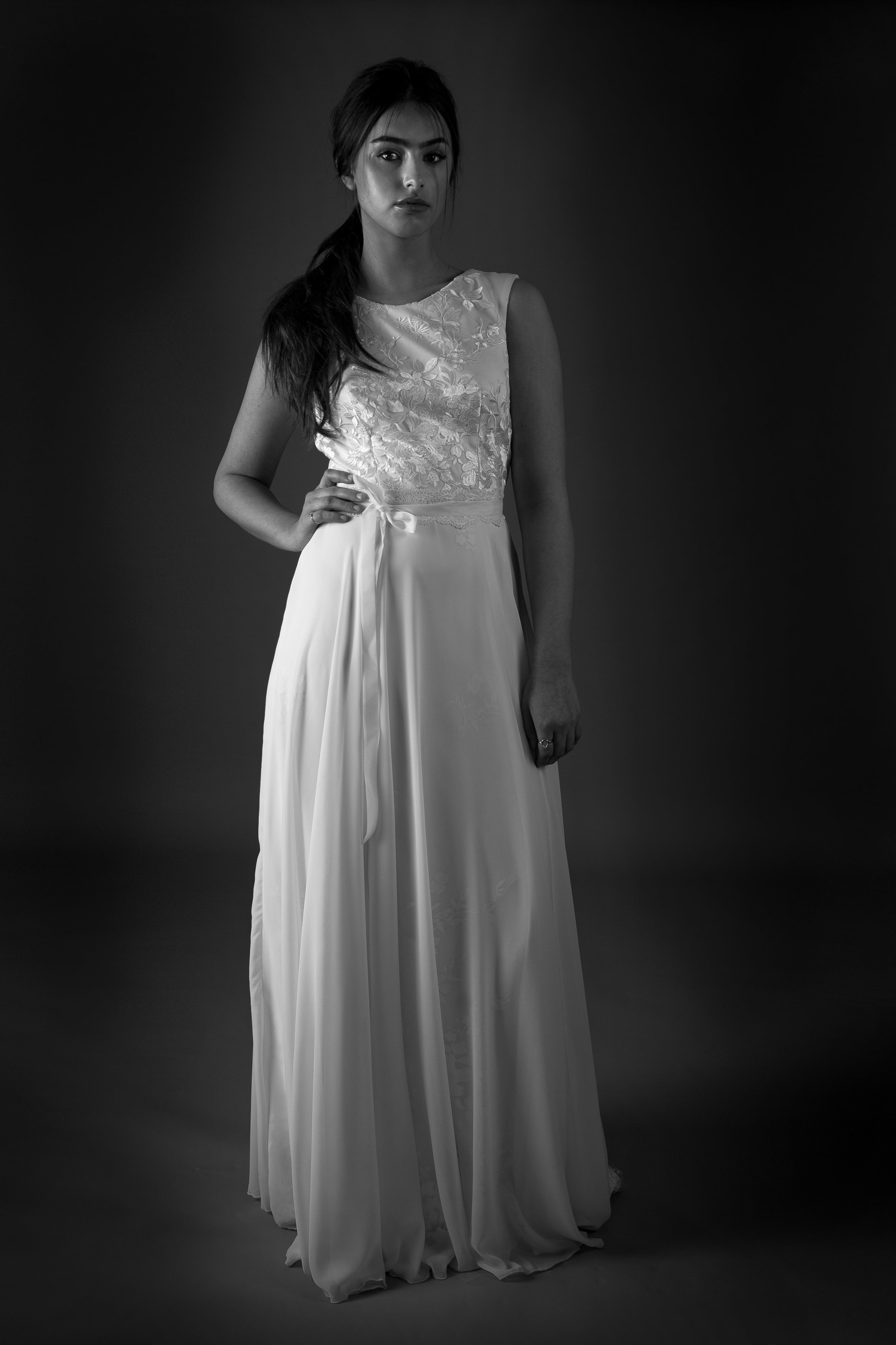 LORELIE DRESS WITH TEAGAN SKIRT AND LACE BELT