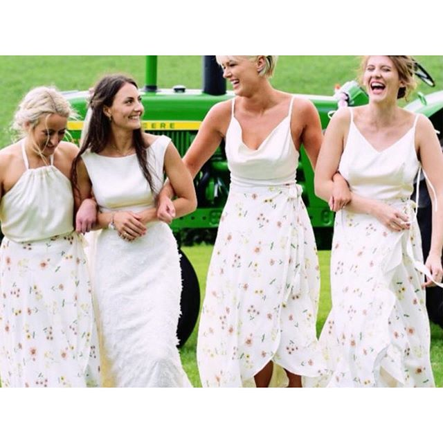 | 4 BEST FRIENDS |  This was a very special wedding, where I got to design and make both the bride and bridesmaids! They were so lovely to work with and look absolutely beautiful 😊 . . . . . . . . #katiedell #bride #bridesmaid #wedding #love #style #pretty #bridalstyle #bridal #weddingday #beautiful #inspo #madetomeasure #bridesmaids #girls #oneofakind #bridesmaiddress #brides #instagood #weddingdress #stylish #designer #married #bespoke #fabulous #coolbride #modernbride #dress #fashion #cool