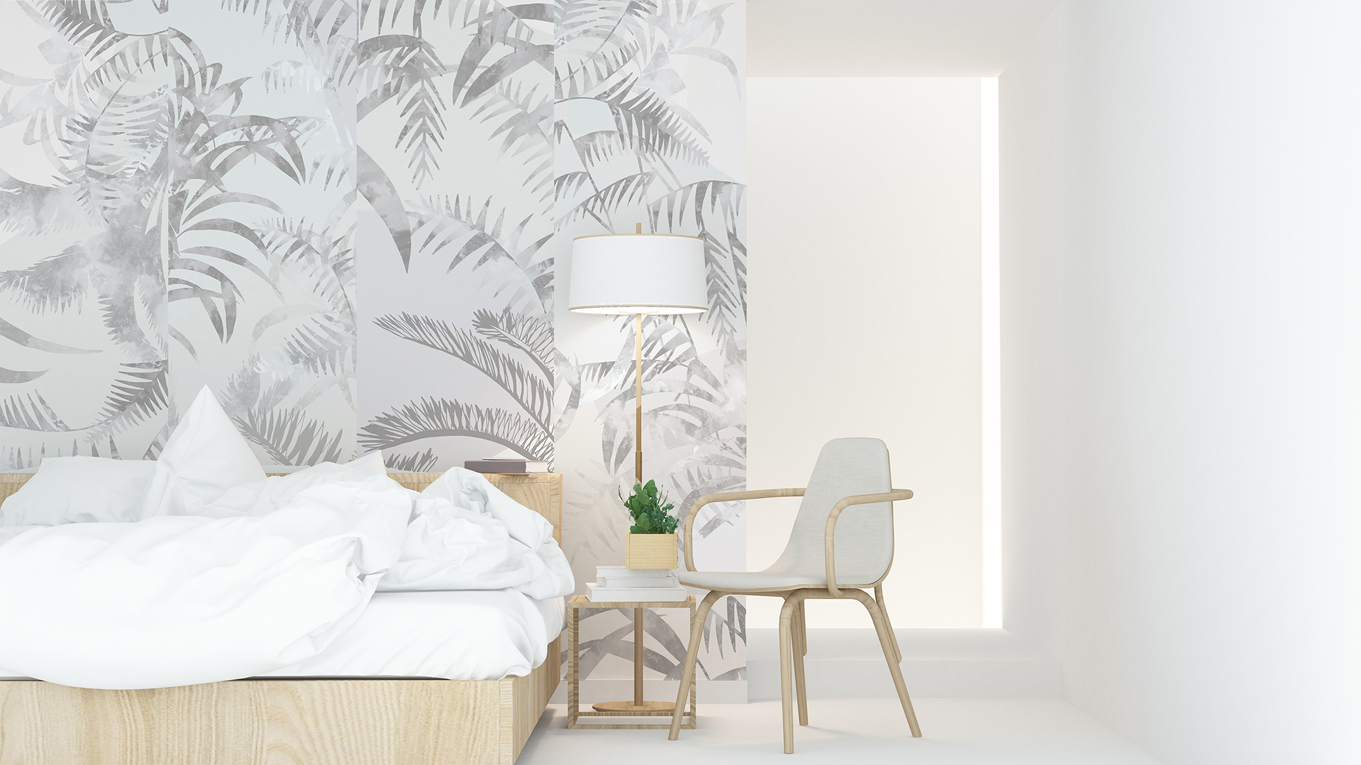 - Jungle Wallcovering   Dusk Colourway