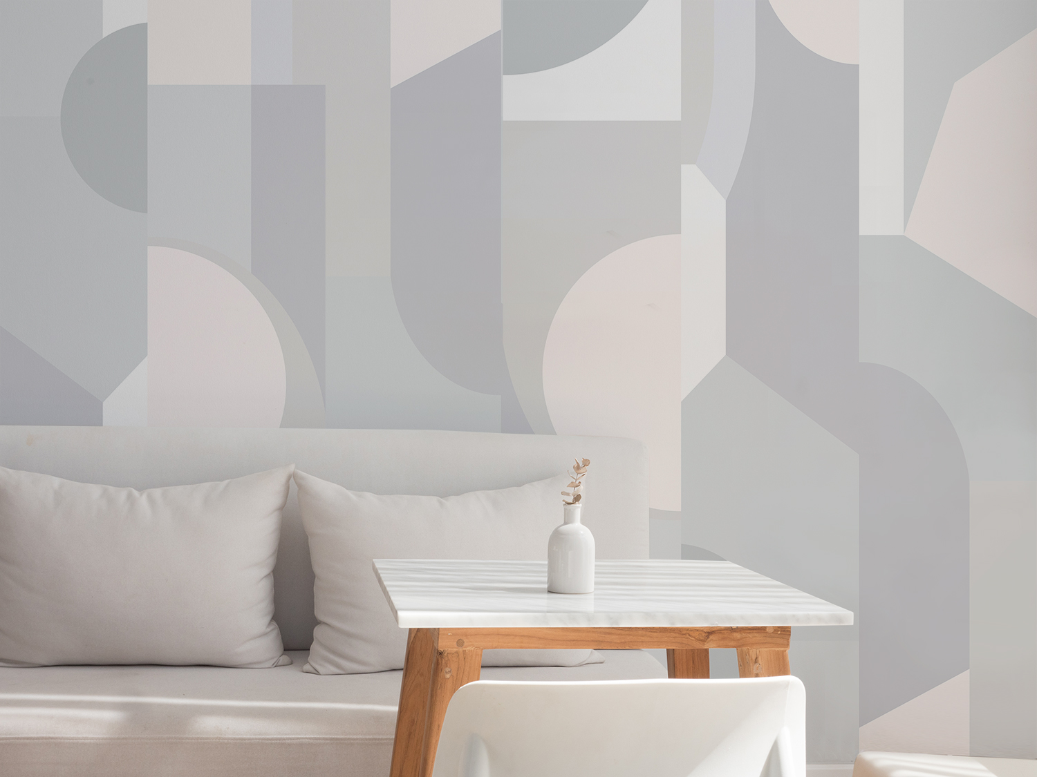 - Stained Glass Wallcovering   Dusk Colourway
