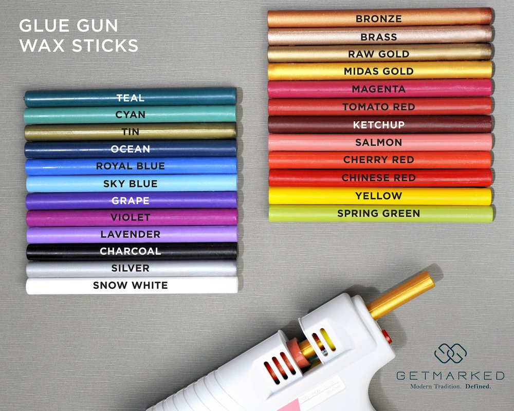 Glue Gun Sealing Wax Sealing Wax Sticks for a Glue Gun Gold Sealing Wax Metalic Sealing Wax Sticks Sealing Wax for Wax Seal Stamps