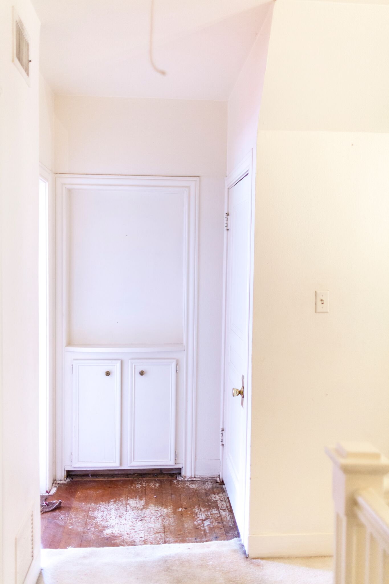 Repurposed closet - Symbio will be transforming this hallway closet to house all of the wiring, equipment and technology for the entire house.Read the whole blog here!