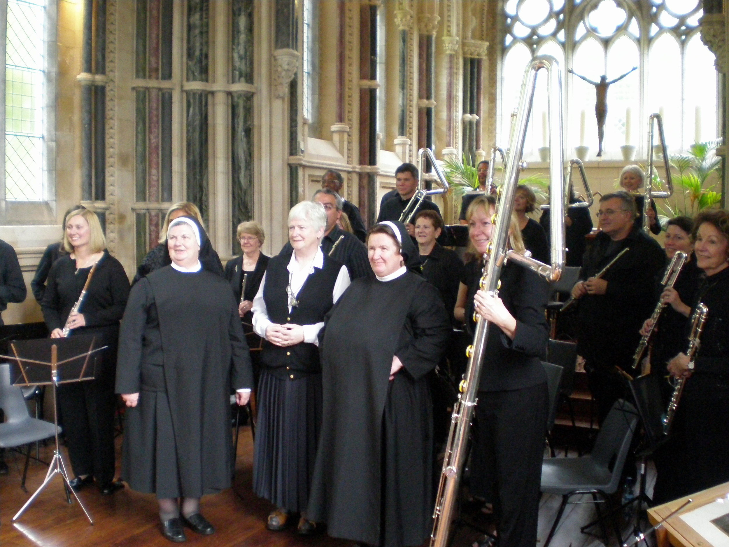Visiting the nuns after the performance at Kylemore Abbey
