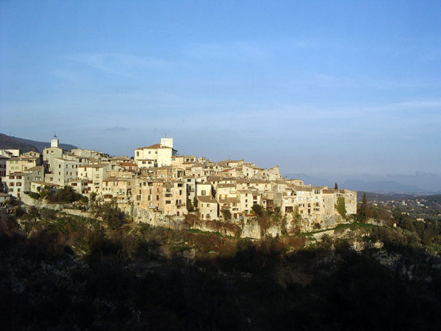 Tourettes Sur Loop, beautiful perched village in Provence where Florida Flute Orchestra performed, 2005