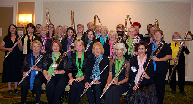 Florida Flute Orchestra after concert during National Flute Association Convention in New Orleans, August 2013