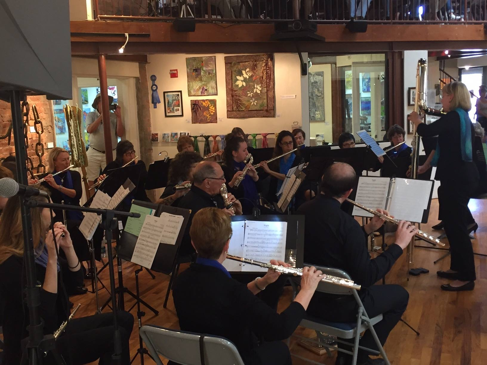 Daytona State College and Community Flute Choir in concert at The Hub Art Gallery in New Smyrna Beach