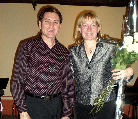Luis Alfredo Gonzalez, Monterrey flute teacher and organizer of Festival Internacional de Flauta with Paige Long