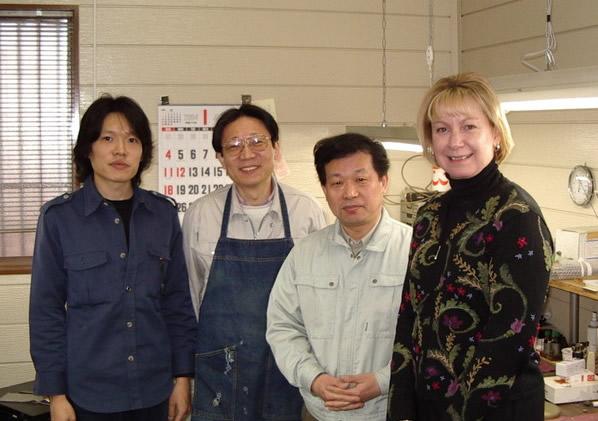 Visiting the Kotato and Fukushima shop in Japan, January 2004