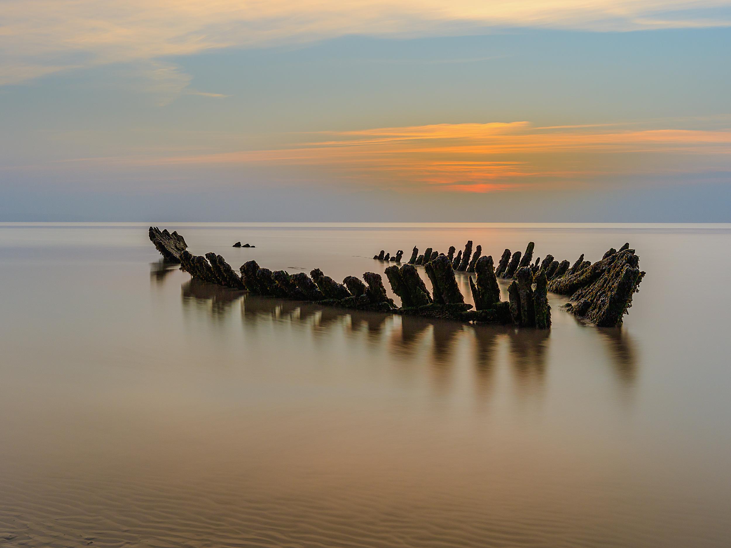 SS Nornen Sunset, Berrow beach