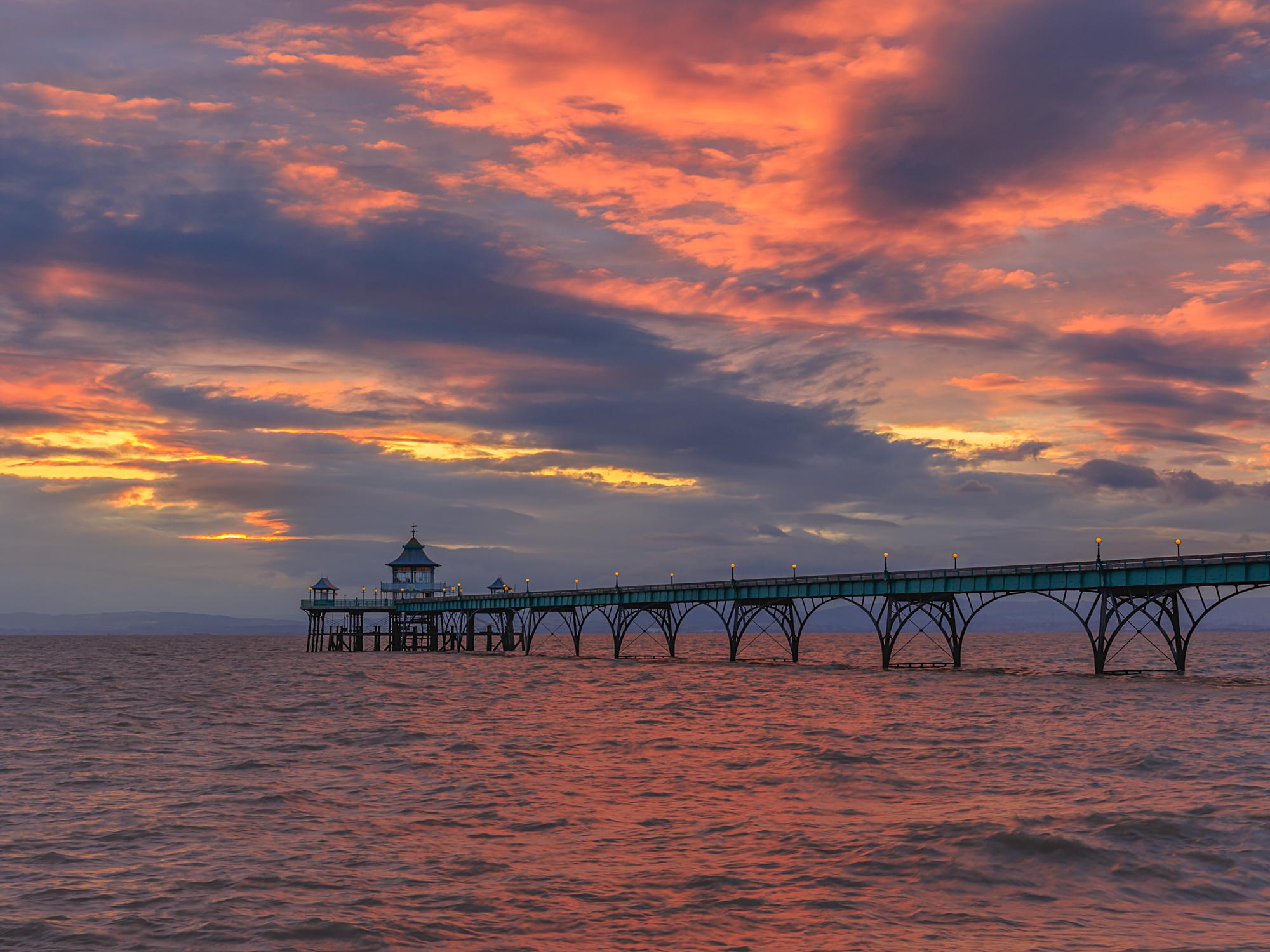 Clevedon Pier colours