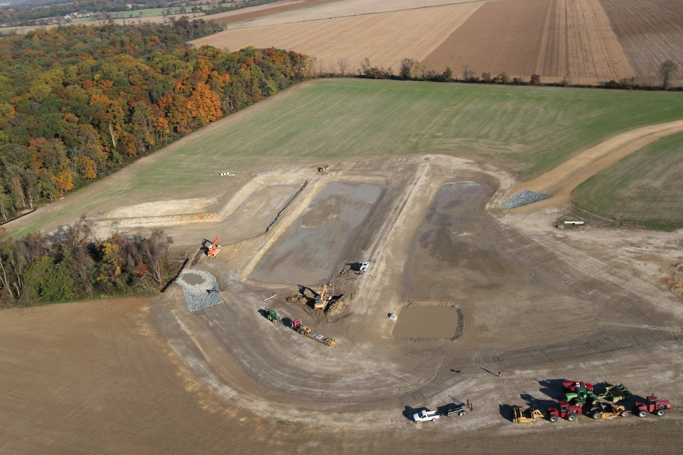 A treatment wetlands system helps maximize nutrient removal.