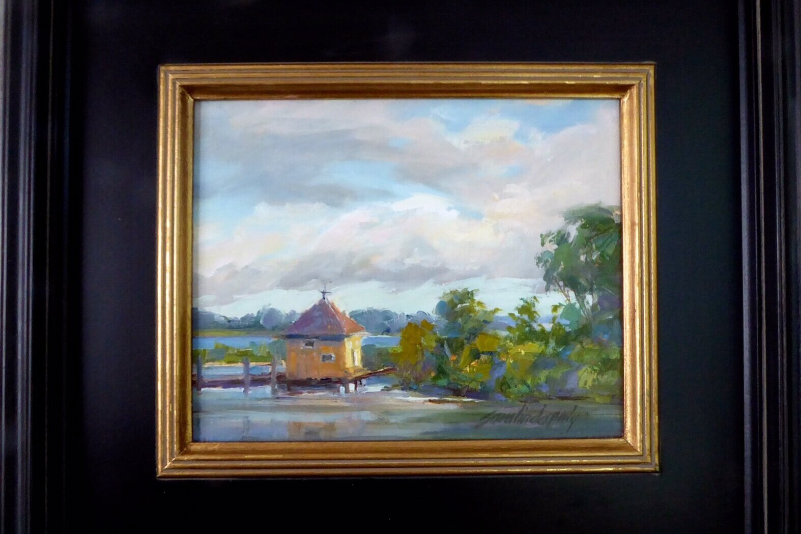 """The Boathouse"" Oil Painting"