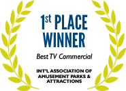 1st Place: Best TV Commercial, International Association of Amusement Parks & Attractions
