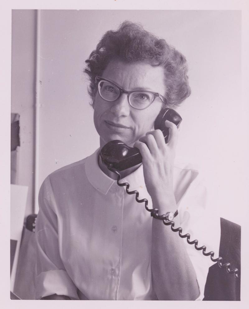Marilyn as receptionist at Studio 1030.