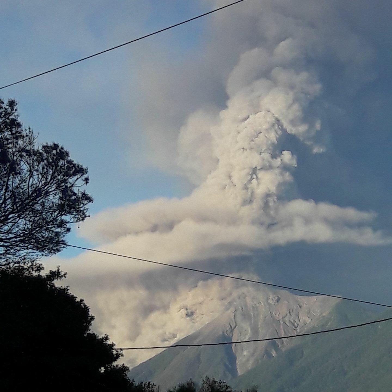 Volcán de Fuego eruption. Feb 1,2018. Photo by Marco Barbi.